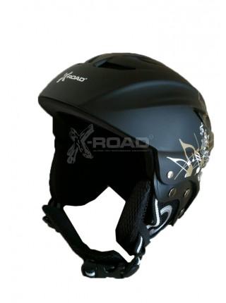 Шлем горнолыжный X-Road №906b black +cp