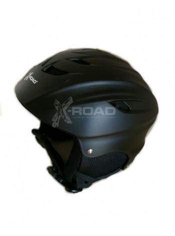 Шлем горнолыжный X-Road №906a matt black