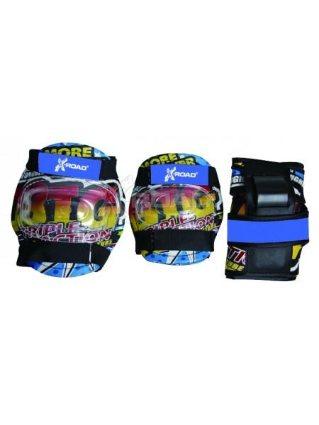 Защита для катания на роликах детская X-Road № PW–308 blue