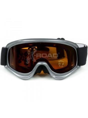 Очки-Маска горнолыжная детская с двойной линзой X-Road adrenalyn № 556