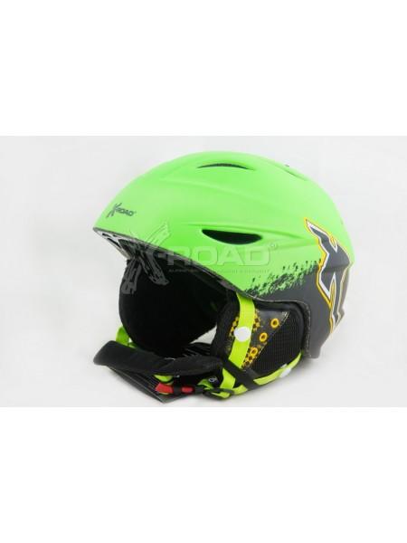 Шлем горнолыжный X-Road № 926-34 Green